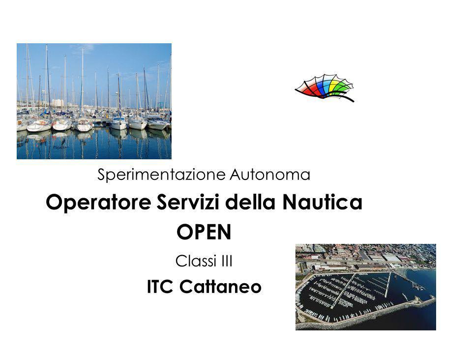 Sperimentazione Autonoma Operatore Servizi della Nautica OPEN Classi III ITC Cattaneo
