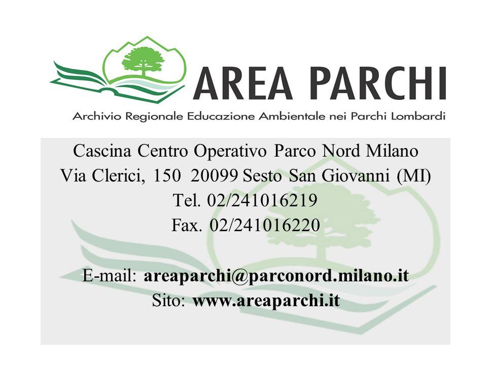Cascina Centro Operativo Parco Nord Milano Via Clerici, 150 20099 Sesto San Giovanni (MI) Tel. 02/241016219 Fax. 02/241016220 E-mail: areaparchi@parco