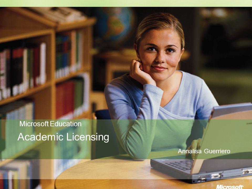 Education Licensing Microsoft Education Academic Licensing Annalisa Guerriero