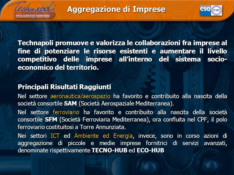 Aggregazione di Imprese Technapoli promuove e valorizza le collaborazioni fra imprese al fine di potenziare le risorse esistenti e aumentare il livell