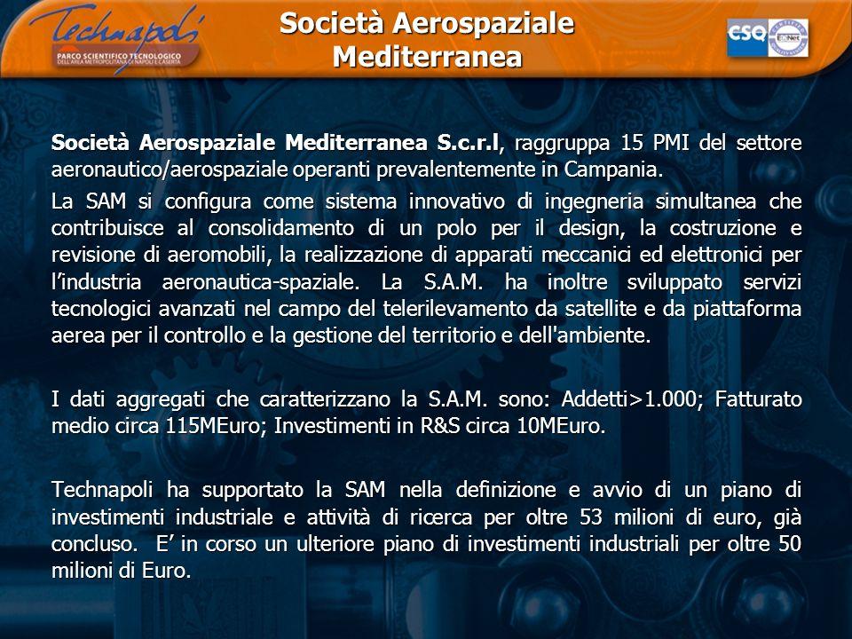 Società Aerospaziale Mediterranea Società Aerospaziale Mediterranea S.c.r.l, raggruppa 15 PMI del settore aeronautico/aerospaziale operanti prevalente