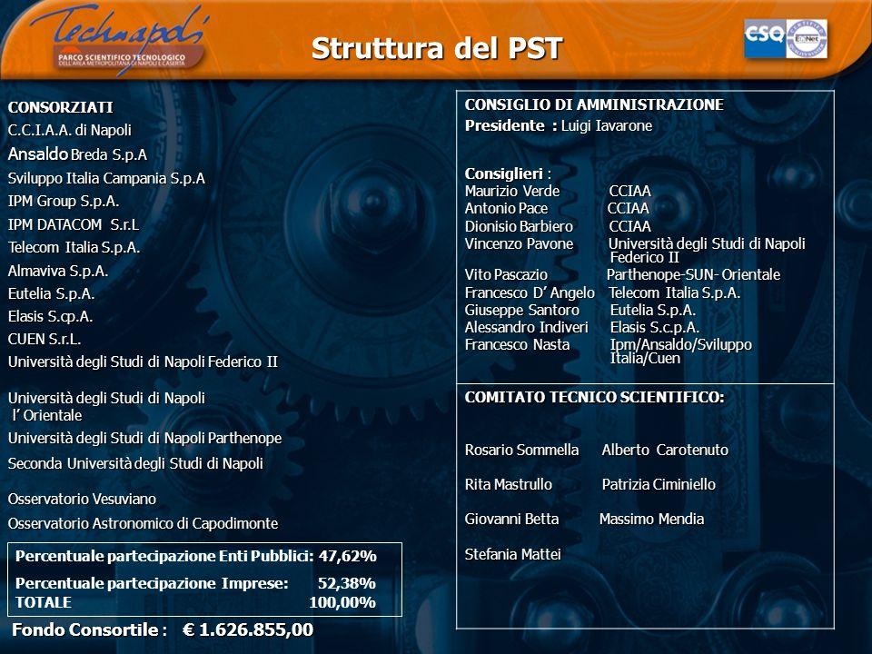 CONSORZIATI C.C.I.A.A. di Napoli Ansaldo Breda S.p.A Sviluppo Italia Campania S.p.A IPM Group S.p.A. IPM DATACOM S.r.L Telecom Italia S.p.A. Almaviva