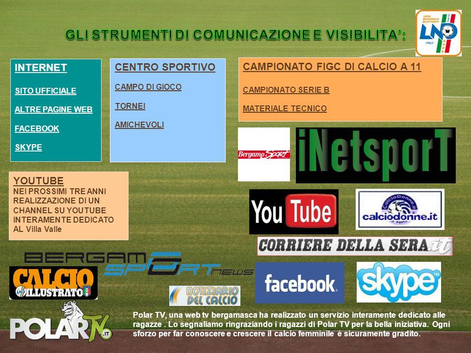 INTERNET SITO UFFICIALE ALTRE PAGINE WEB FACEBOOK SKYPE CENTRO SPORTIVO CAMPO DI GIOCO TORNEI AMICHEVOLI CAMPIONATO FIGC DI CALCIO A 11 CAMPIONATO SER