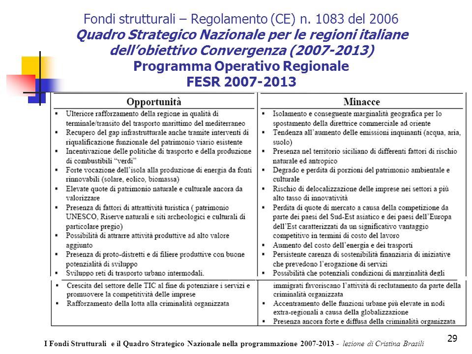 29 Fondi strutturali – Regolamento (CE) n.