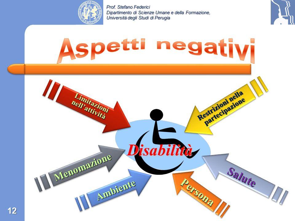 Prof. Stefano Federici Dipartimento di Scienze Umane e della Formazione, Università degli Studi di Perugia «What is disability? «What is disability? –