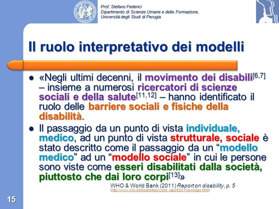 Prof. Stefano Federici Dipartimento di Scienze Umane e della Formazione, Università degli Studi di Perugia «La disabilità è parte della condizione uma