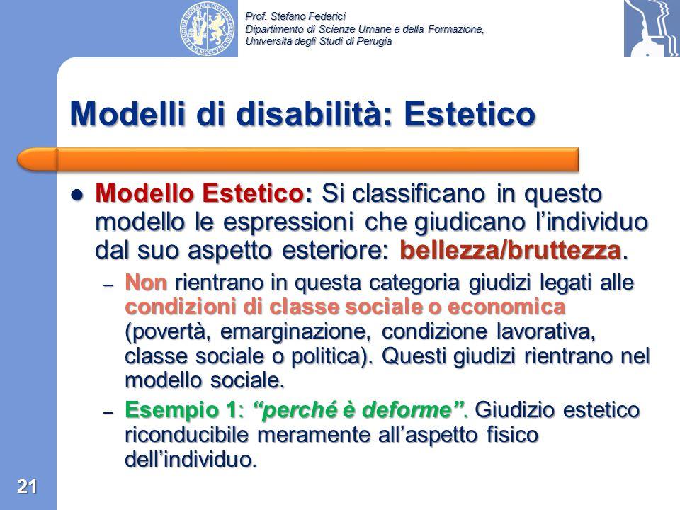 Prof. Stefano Federici Dipartimento di Scienze Umane e della Formazione, Università degli Studi di Perugia Modello Etico …è disabile… Modello Etico …è