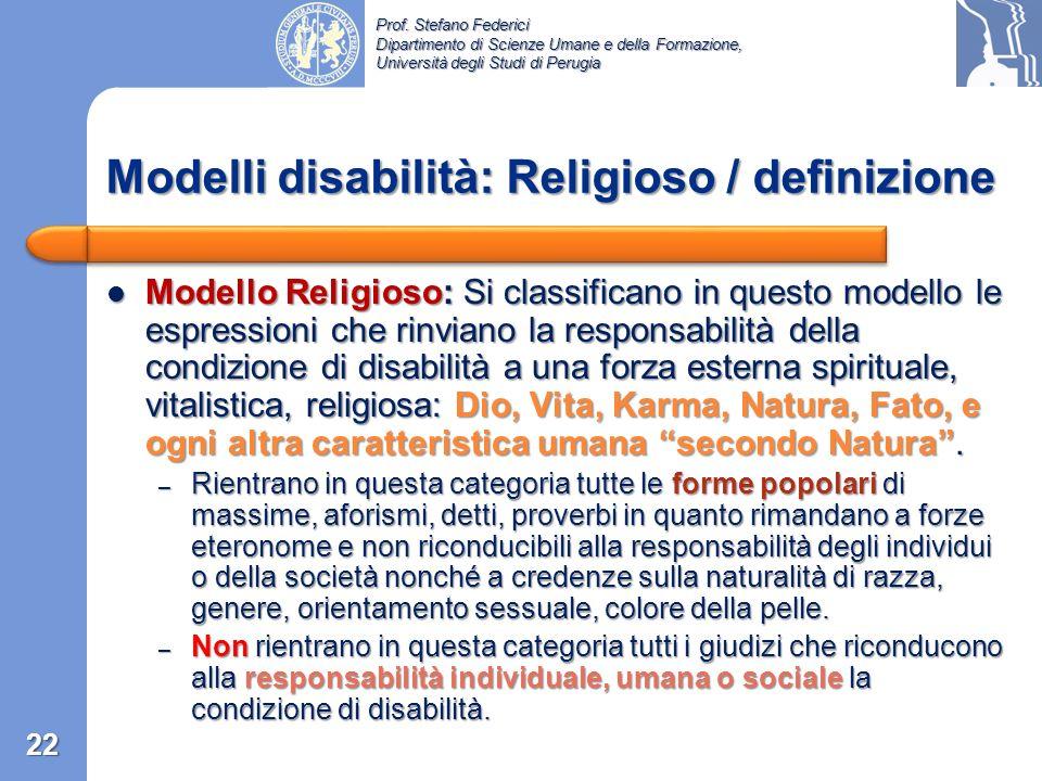 Prof. Stefano Federici Dipartimento di Scienze Umane e della Formazione, Università degli Studi di Perugia Modello Estetico: Si classificano in questo