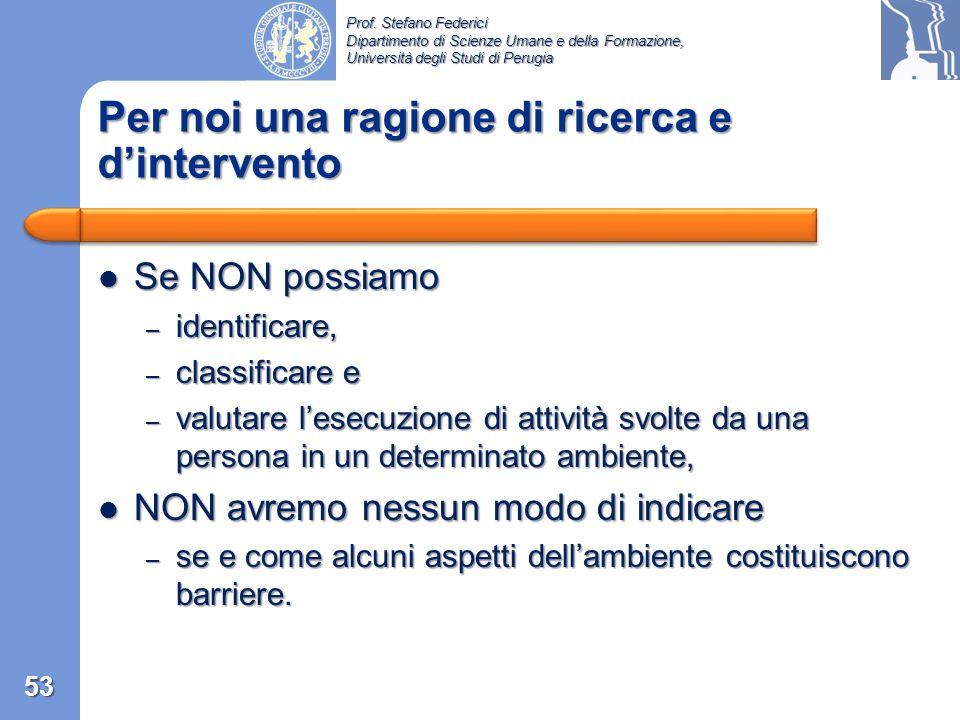 Prof. Stefano Federici Dipartimento di Scienze Umane e della Formazione, Università degli Studi di Perugia UPIAS/DPI chiaramente non intende dare una