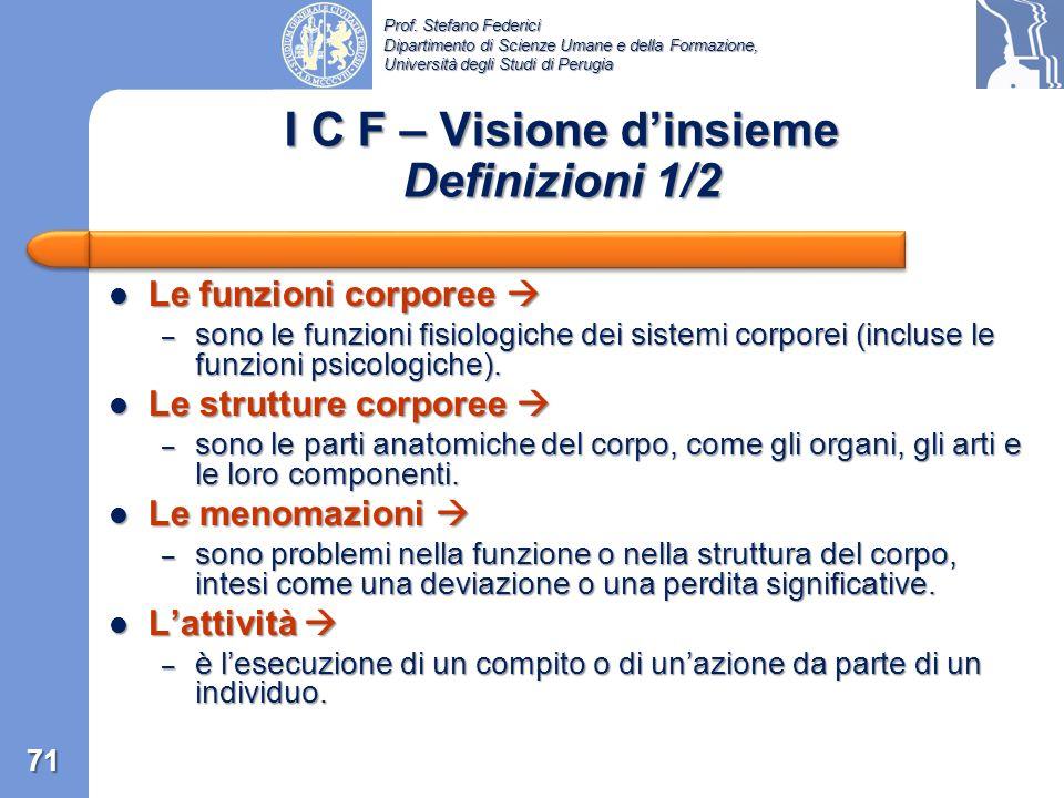 Prof. Stefano Federici Dipartimento di Scienze Umane e della Formazione, Università degli Studi di Perugia Funzionamento Funzionamento – è il termine