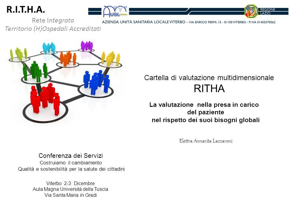 Rete Integrata Territorio (H)Ospedali Accreditati R.I.T.H.A. Cartella di valutazione multidimensionale RITHA La valutazione nella presa in carico del