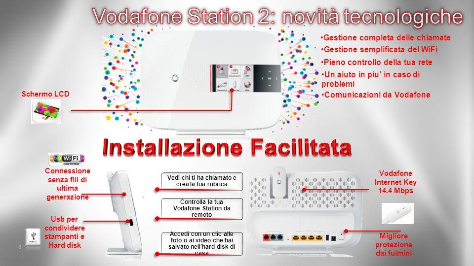 6 Vodafone Internet Key 14.4 Mbps Schermo LCD Connessione senza fili di ultima generazione Migliore protezione dai fulmini Usb per condividere stampan