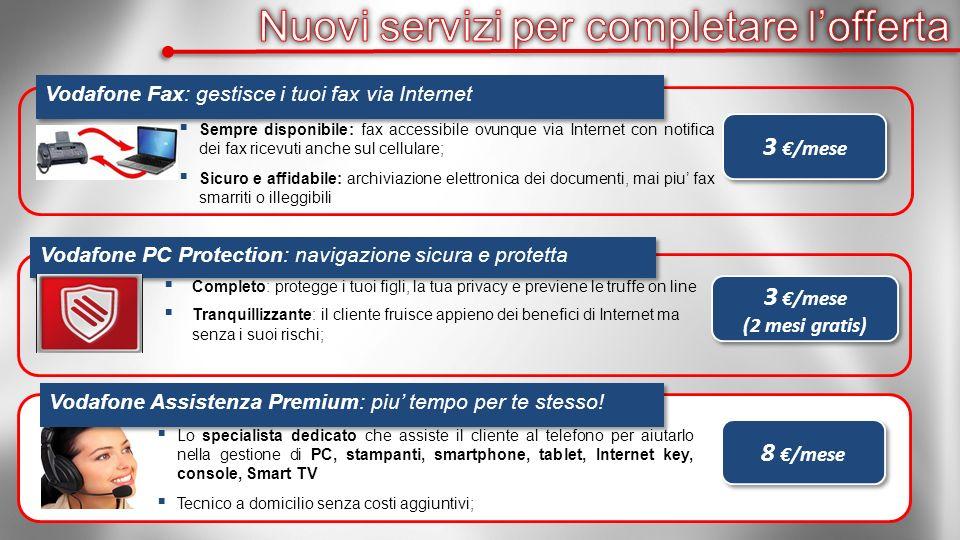 Vodafone PC Protection: navigazione sicura e protetta Completo: protegge i tuoi figli, la tua privacy e previene le truffe on line Tranquillizzante: i