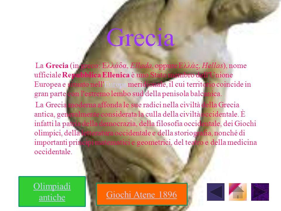 Olimpiadi antiche I primi giochi Olimpici si svolsero nel 776 a.C.