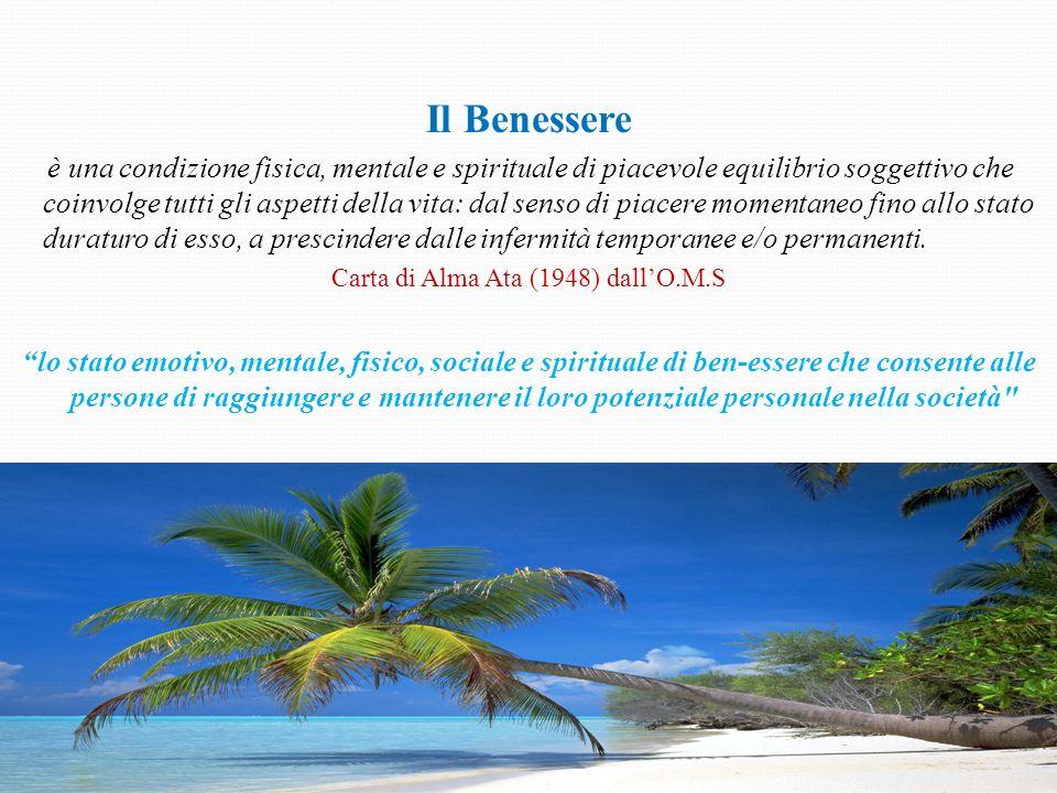 Il Benessere è una condizione fisica, mentale e spirituale di piacevole equilibrio soggettivo che coinvolge tutti gli aspetti della vita: dal senso di