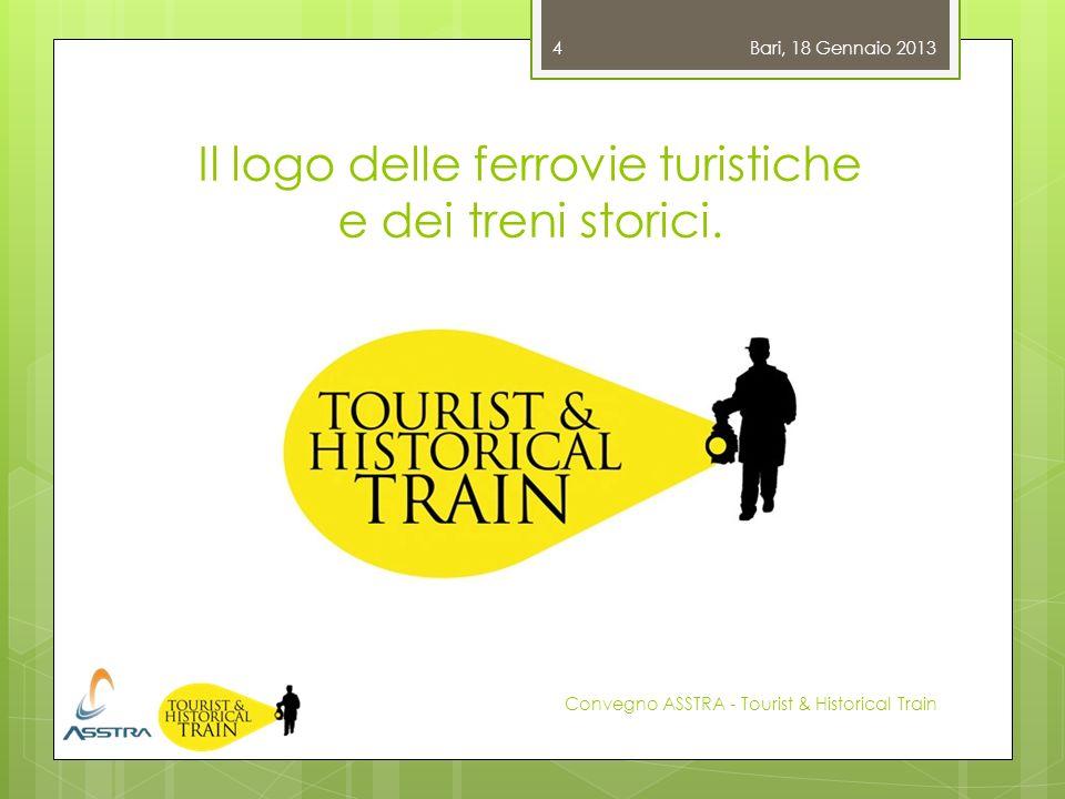 Il logo delle ferrovie turistiche e dei treni storici. Bari, 18 Gennaio 2013 Convegno ASSTRA - Tourist & Historical Train 4