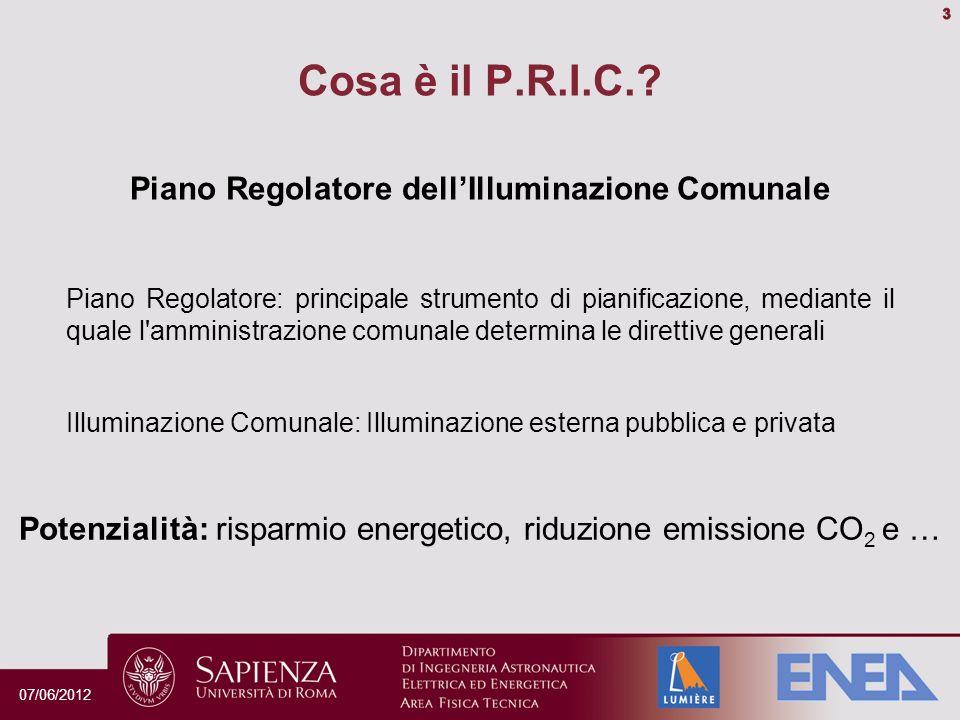 Parametri fondamentali dell illuminazione urbana Sicurezza Inquinamento luminoso Risparmio energetico Scenari illuminotecnici Identità del luogo Orientamento 07/06/2012