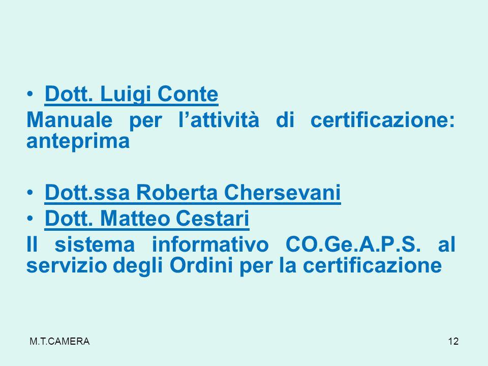 M.T.CAMERA Dott.