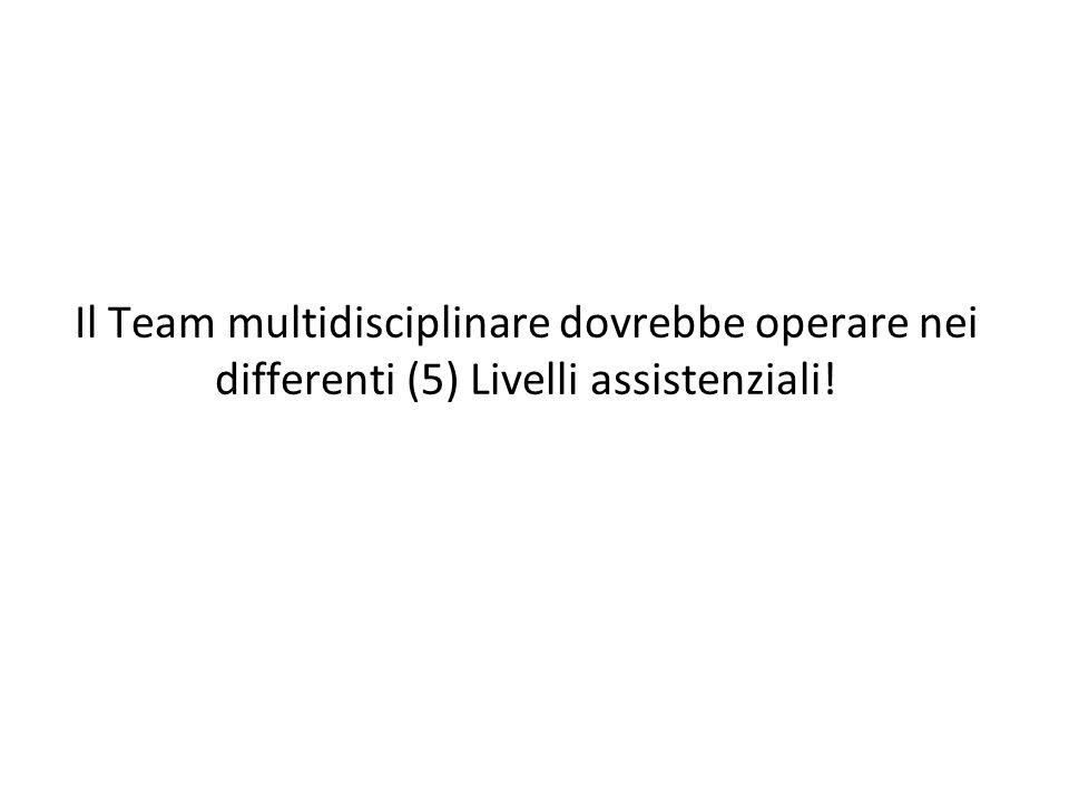 Il Team multidisciplinare dovrebbe operare nei differenti (5) Livelli assistenziali!