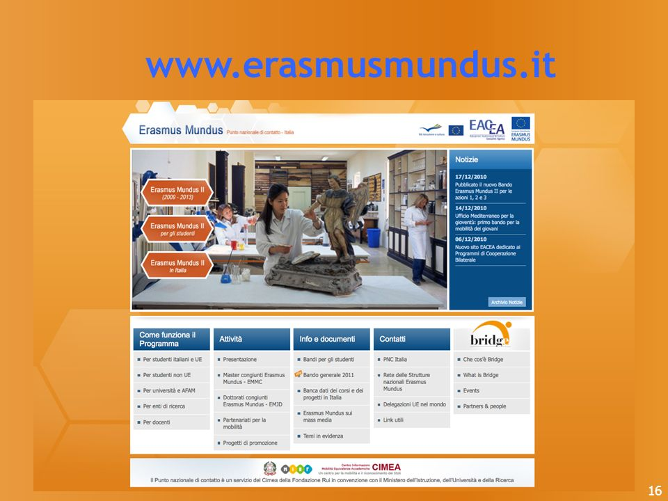 www.erasmusmundus.it 16