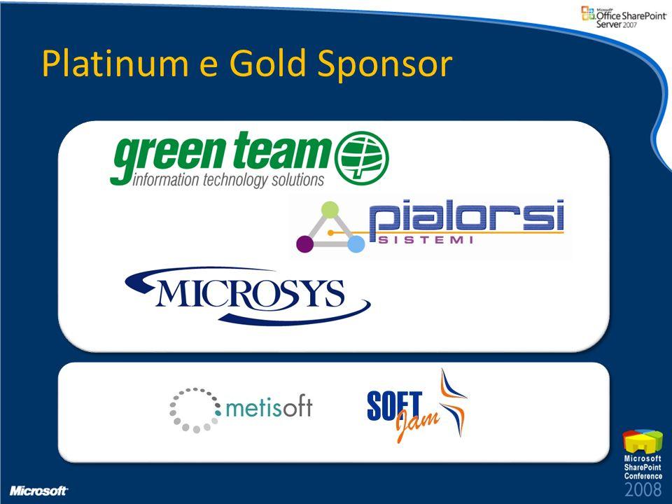 Platinum e Gold Sponsor