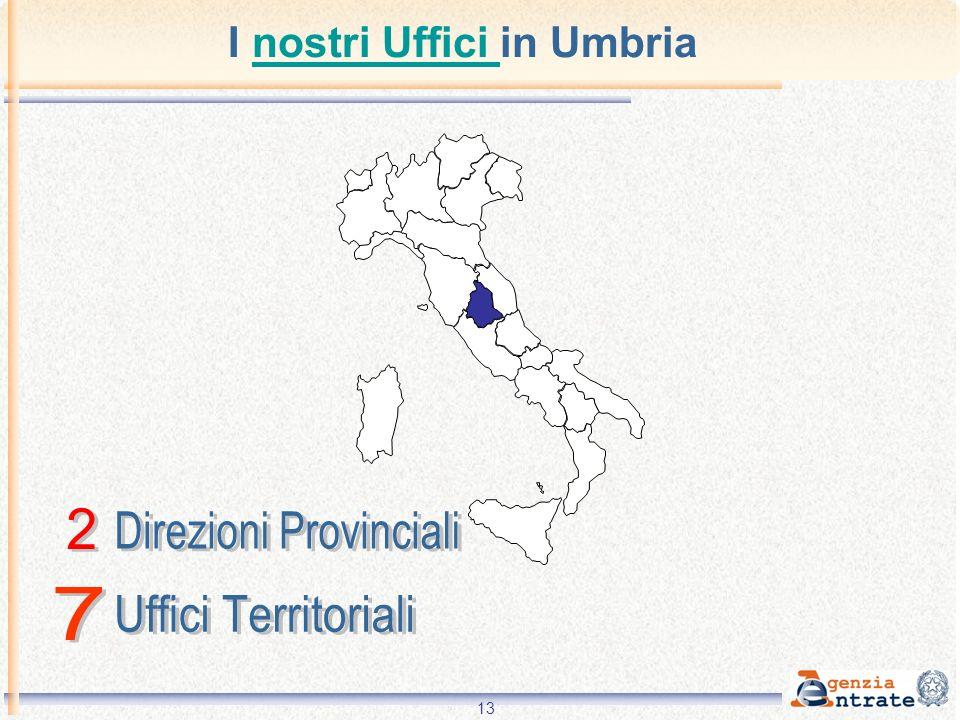 13 I nostri Uffici in Umbrianostri Uffici