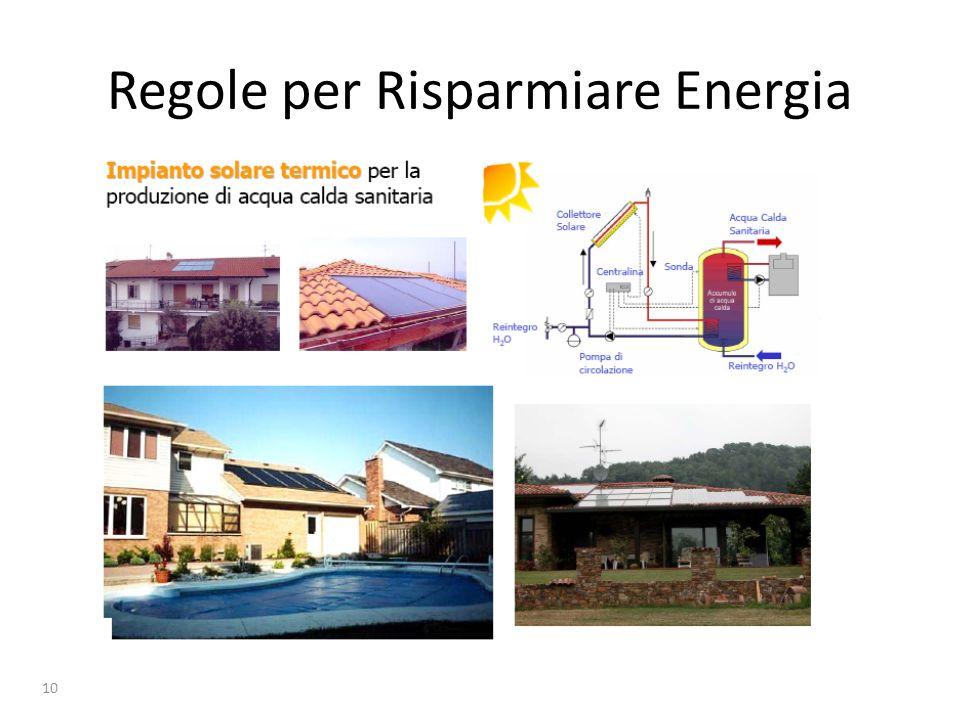 11 Regole per Risparmiare Energia