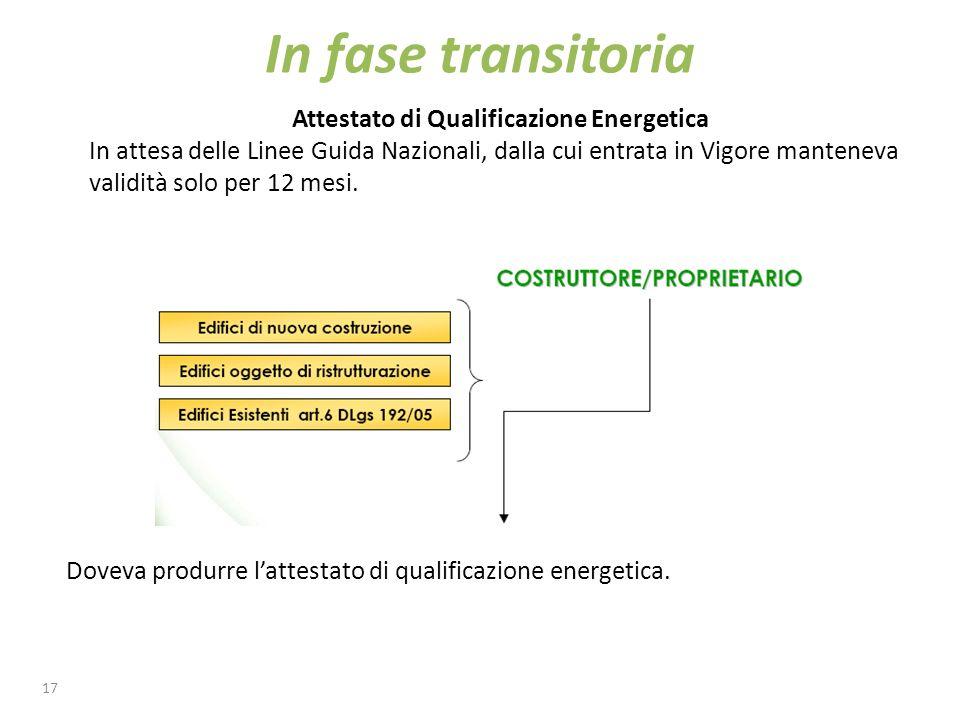 18 La via per il completo recepimento della Direttiva 2002/91/CE in Italia è particolarmente lunga.