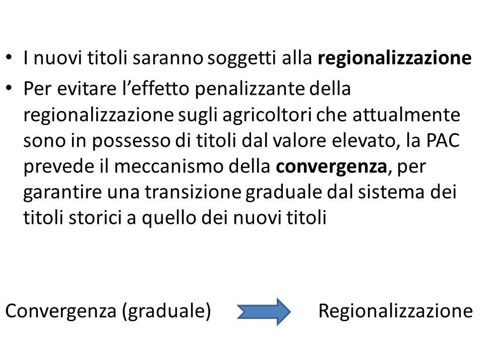 I nuovi titoli saranno soggetti alla regionalizzazione Per evitare leffetto penalizzante della regionalizzazione sugli agricoltori che attualmente son