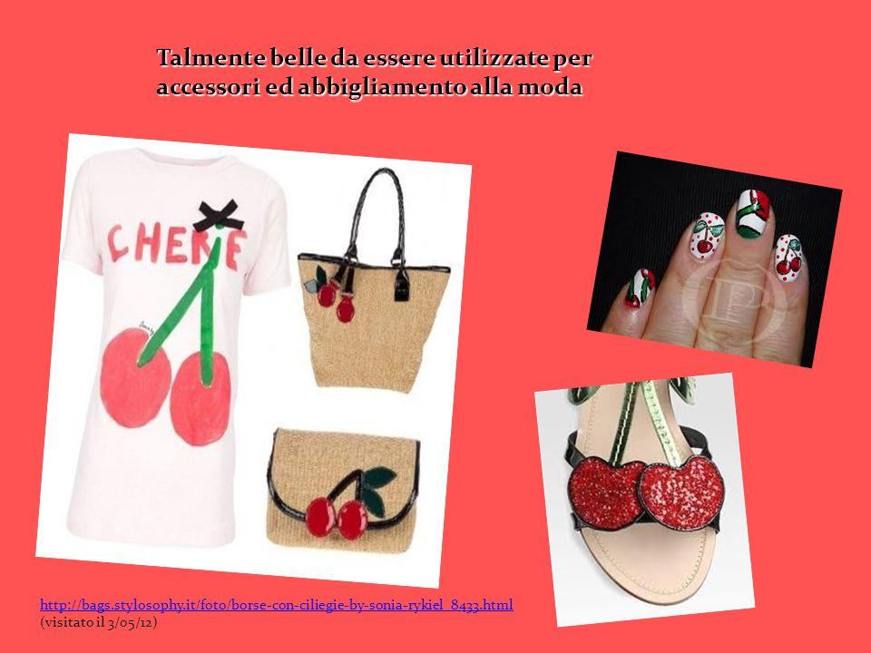 Talmente belle da essere utilizzate per accessori ed abbigliamento alla moda http://bags.stylosophy.it/foto/borse-con-ciliegie-by-sonia-rykiel_8433.ht