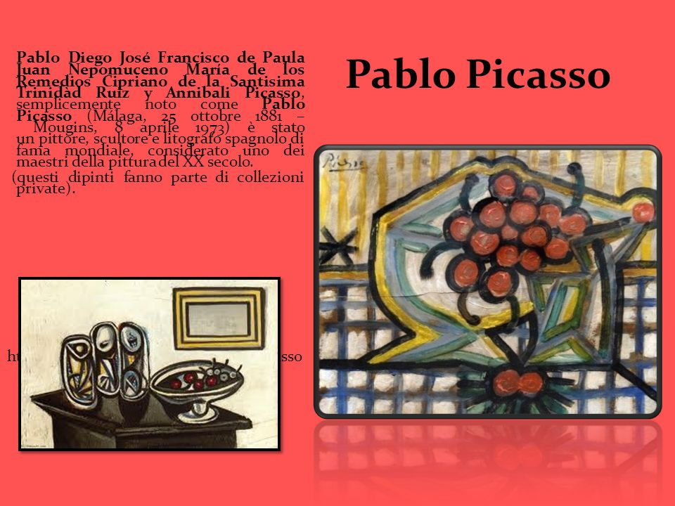 Pablo Picasso Pablo Diego José Francisco de Paula Juan Nepomuceno María de los Remedios Cipriano de la Santisima Trinidàd Ruiz y Annibali Picasso, sem