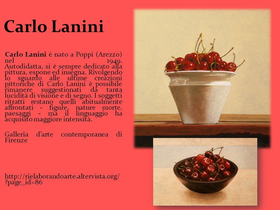 Carlo Lanini Carlo Lanini è nato a Poppi (Arezzo) nel 1949. Autodidatta, si è sempre dedicato alla pittura, espone ed insegna. Rivolgendo lo sguardo a