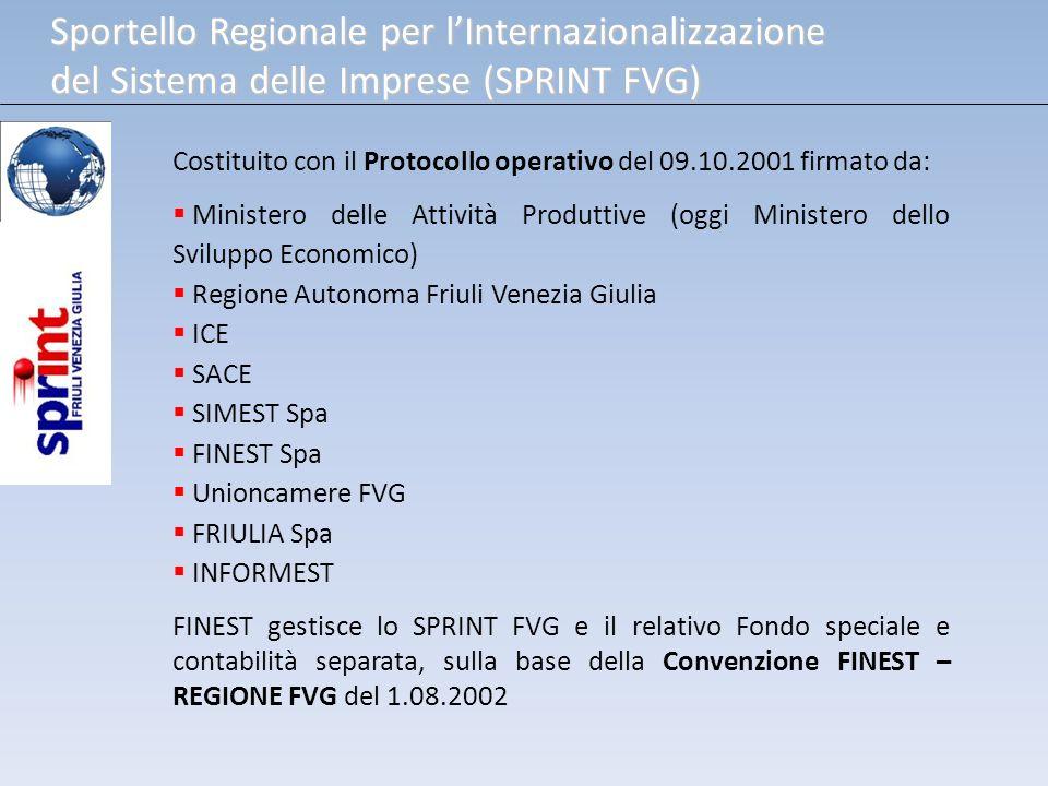 Costituito con il Protocollo operativo del 09.10.2001 firmato da: Ministero delle Attività Produttive (oggi Ministero dello Sviluppo Economico) Region