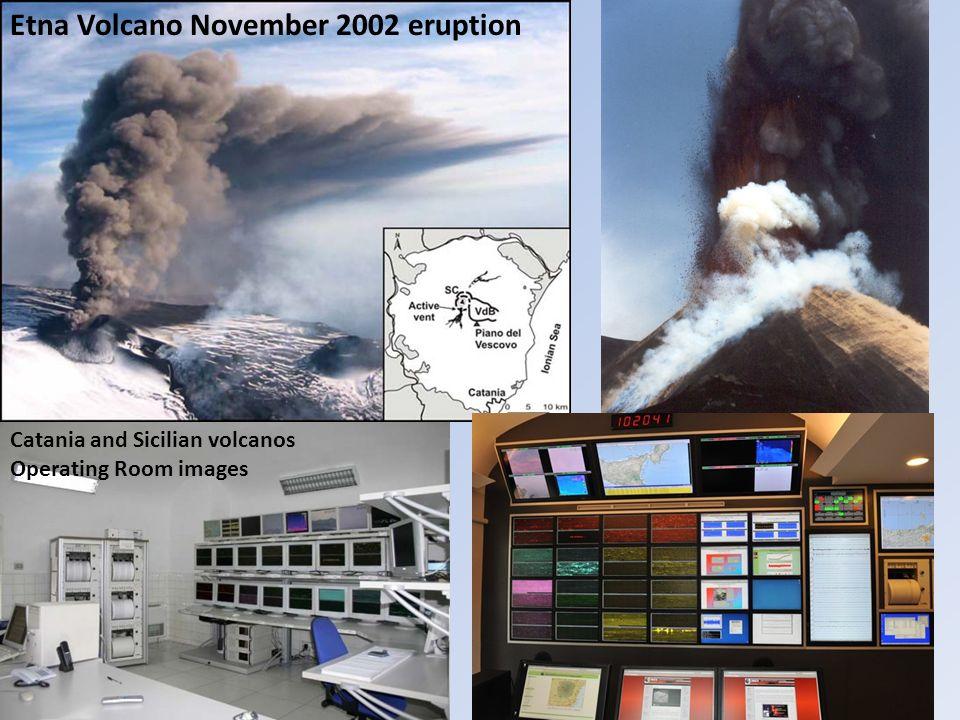 Etna Volcano November 2002 eruption Catania and Sicilian volcanos Operating Room images