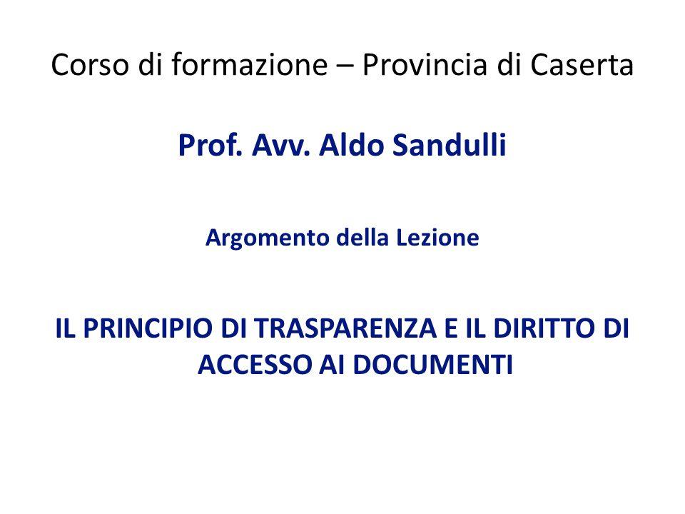 Corso di formazione – Provincia di Caserta Prof.Avv.
