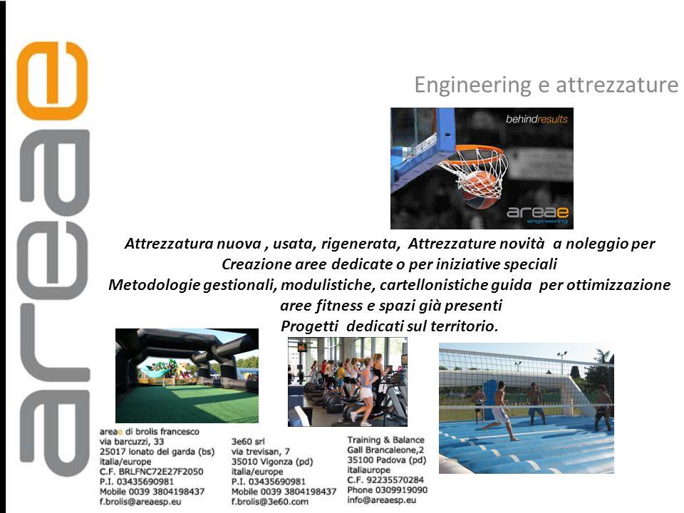 Engineering e attrezzature Attrezzatura nuova, usata, rigenerata, Attrezzature novità a noleggio per Creazione aree dedicate o per iniziative speciali