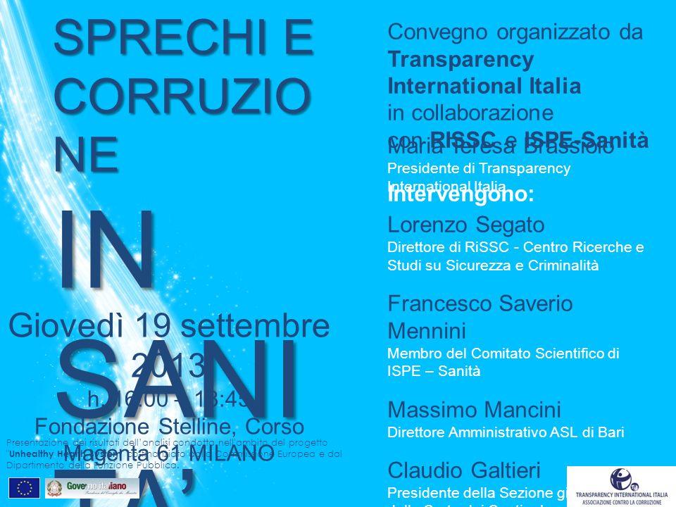 TRANSPARENCY INTERNATIONAL ITALIA Via Zamagna 19 | 20148 Milano www.transparency.it