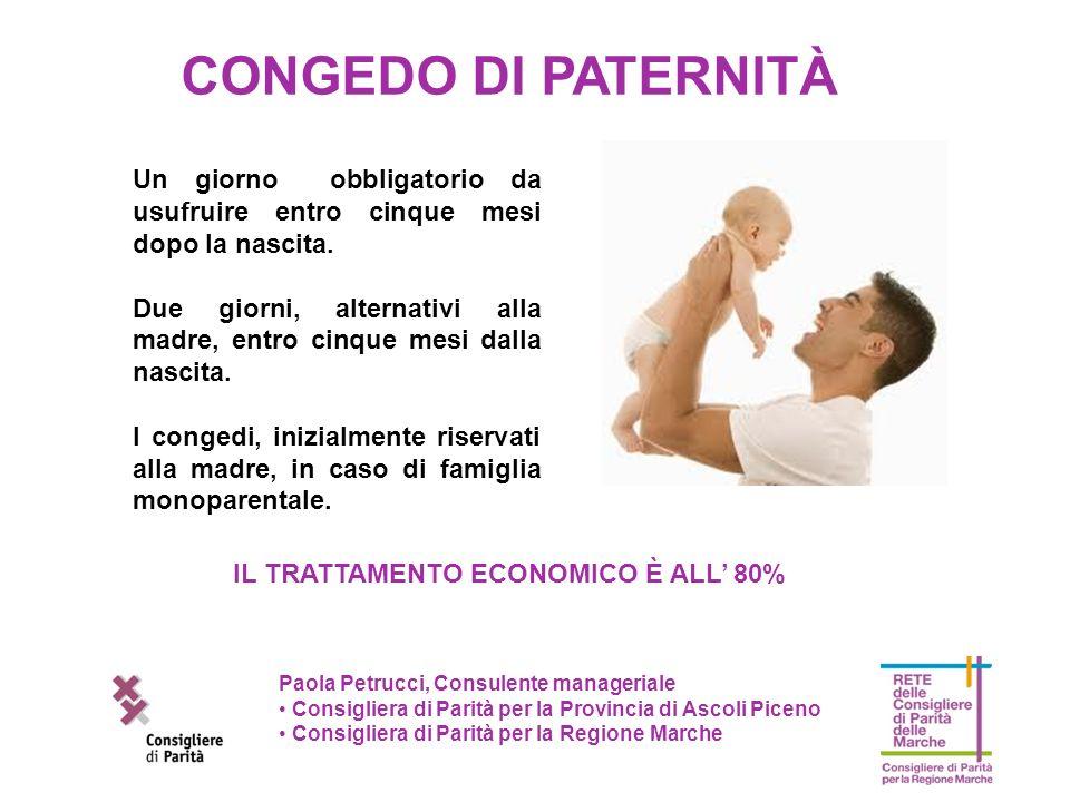 Paola Petrucci, Consulente manageriale Consigliera di Parità per la Provincia di Ascoli Piceno Consigliera di Parità per la Regione Marche Un giorno o