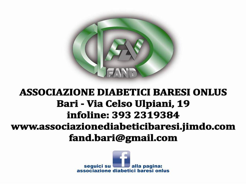 L Associazione Diabetici Baresi Onlus, nasce verso la fine del 2010 vista la mancanza di una associazione di diabetici adulti a Bari.