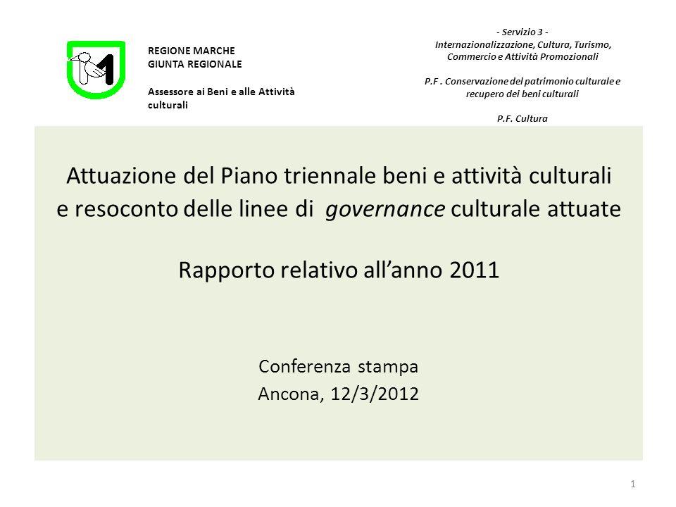 Attuazione del Piano triennale cultura - Anno 2011.
