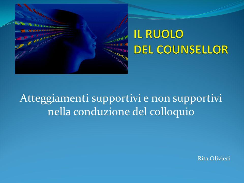 Atteggiamenti supportivi e non supportivi nella conduzione del colloquio Rita Olivieri