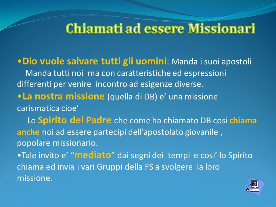 PERCHE UNA MISSIONE.(San Paolo 1 Cor 9,16)) 1.