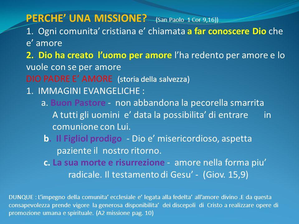 PERCHE UNA MISSIONE. (San Paolo 1 Cor 9,16)) 1.