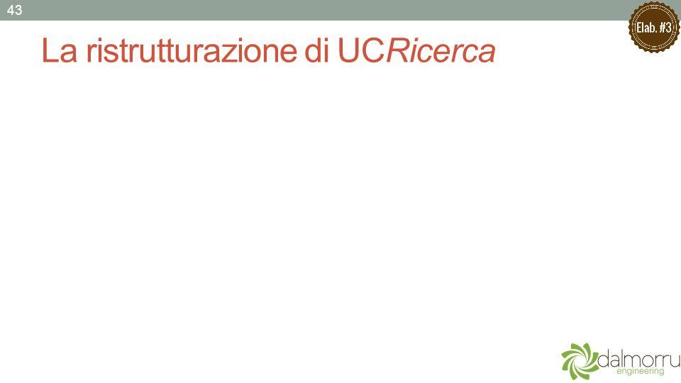 La ristrutturazione di UCRicerca 43