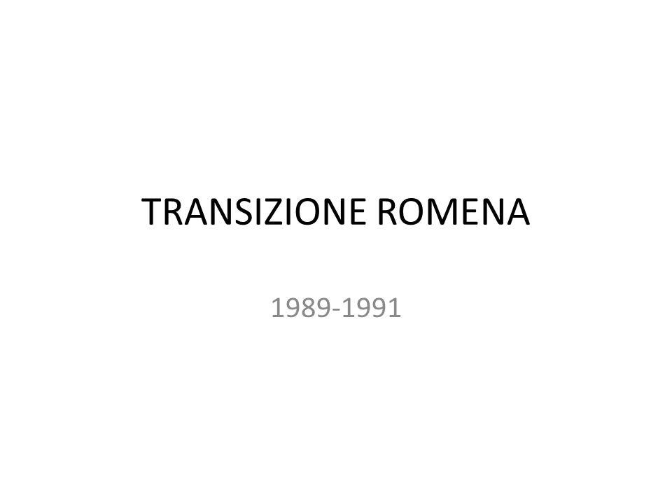 TRANSIZIONE ROMENA 1989-1991