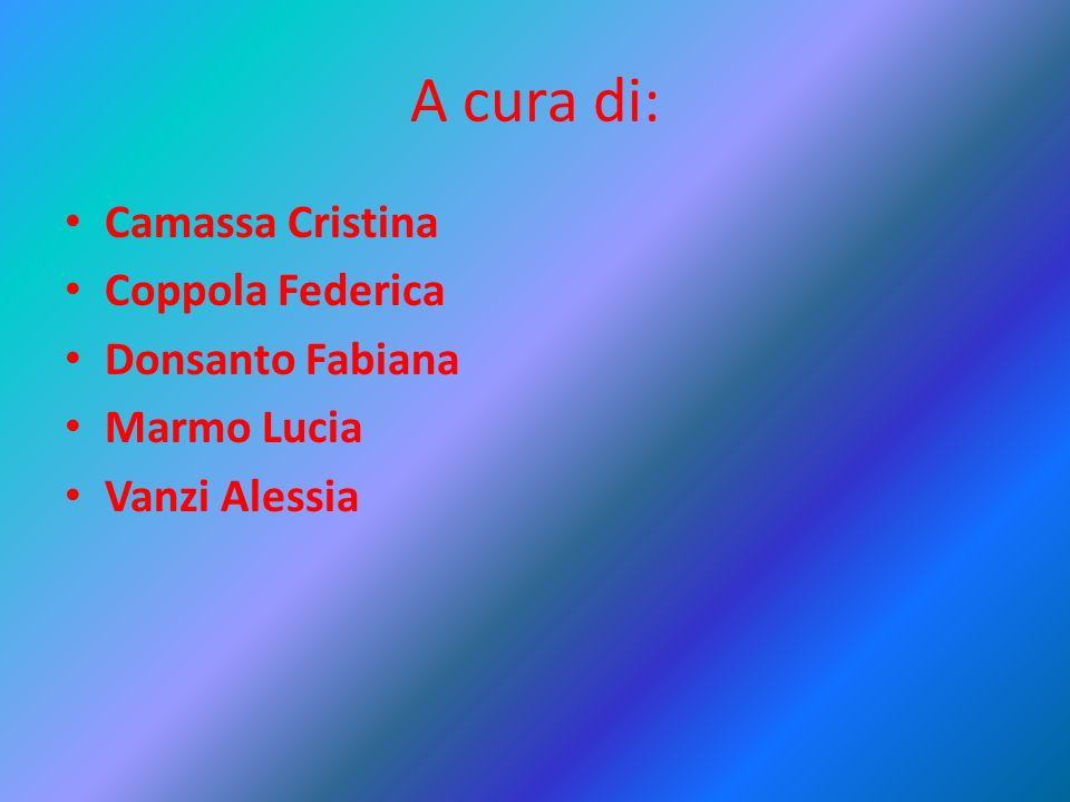 A cura di: Camassa Cristina Coppola Federica Donsanto Fabiana Marmo Lucia Vanzi Alessia