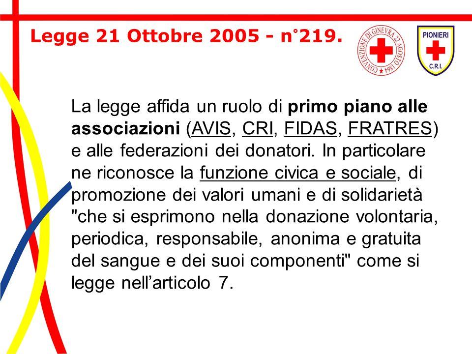 Legge 21 Ottobre 2005 - n°219.