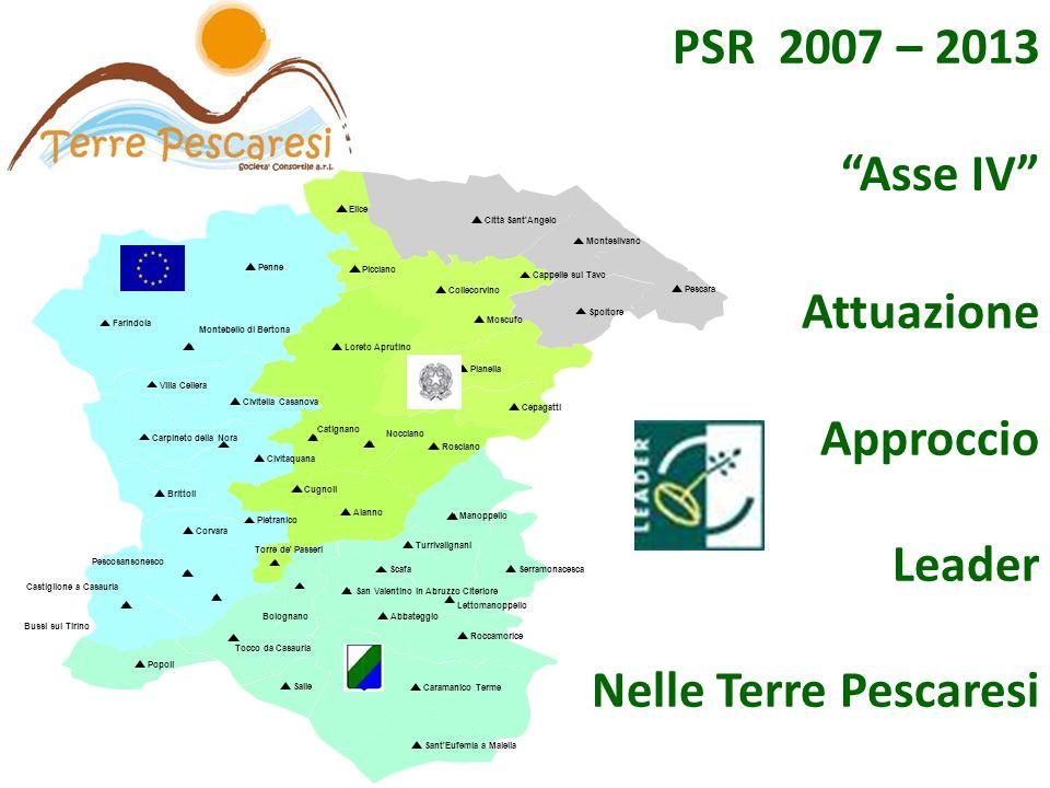 Attuazione Approccio Leader Nelle Terre Pescaresi PSR 2007 – 2013 Asse IV