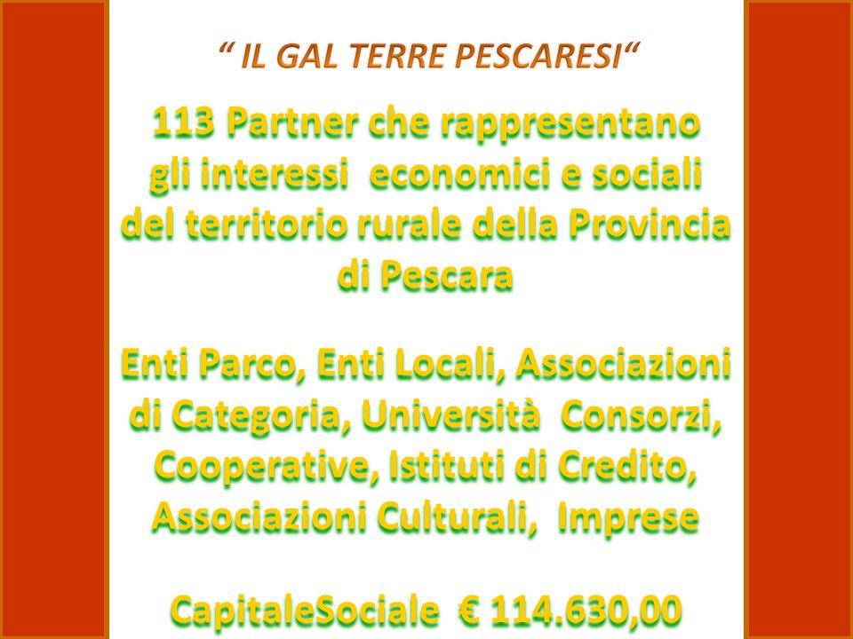 Enti Parco, Enti Locali, Associazioni di Categoria, Università Consorzi, Cooperative, Istituti di Credito, Associazioni Culturali, Imprese 113 Partner