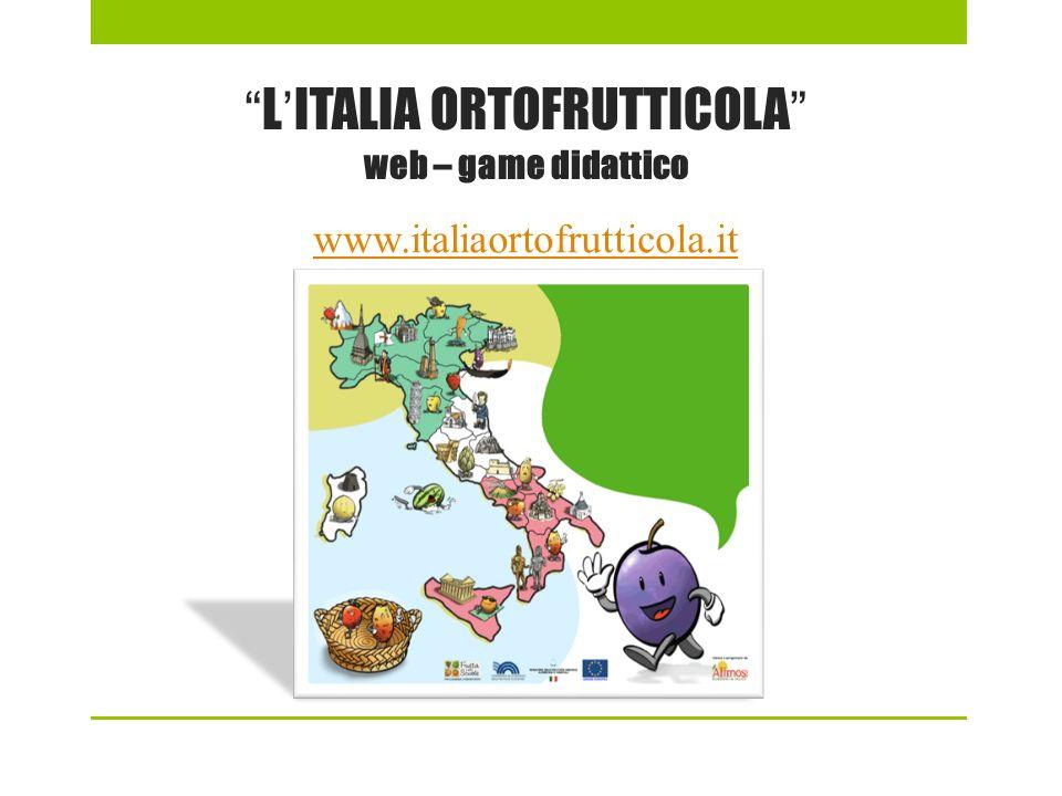 LITALIA ORTOFRUTTICOLA web – game didattico www.italiaortofrutticola.it